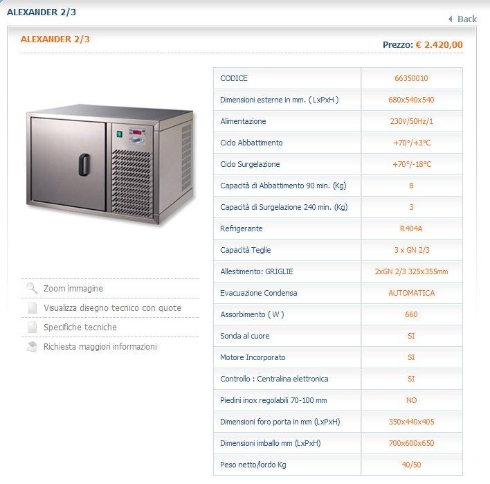 Abbattitore di temperatura alexander 2 3 attrezzature ed arredamenti per alberghi - Abbattitore per casa ...