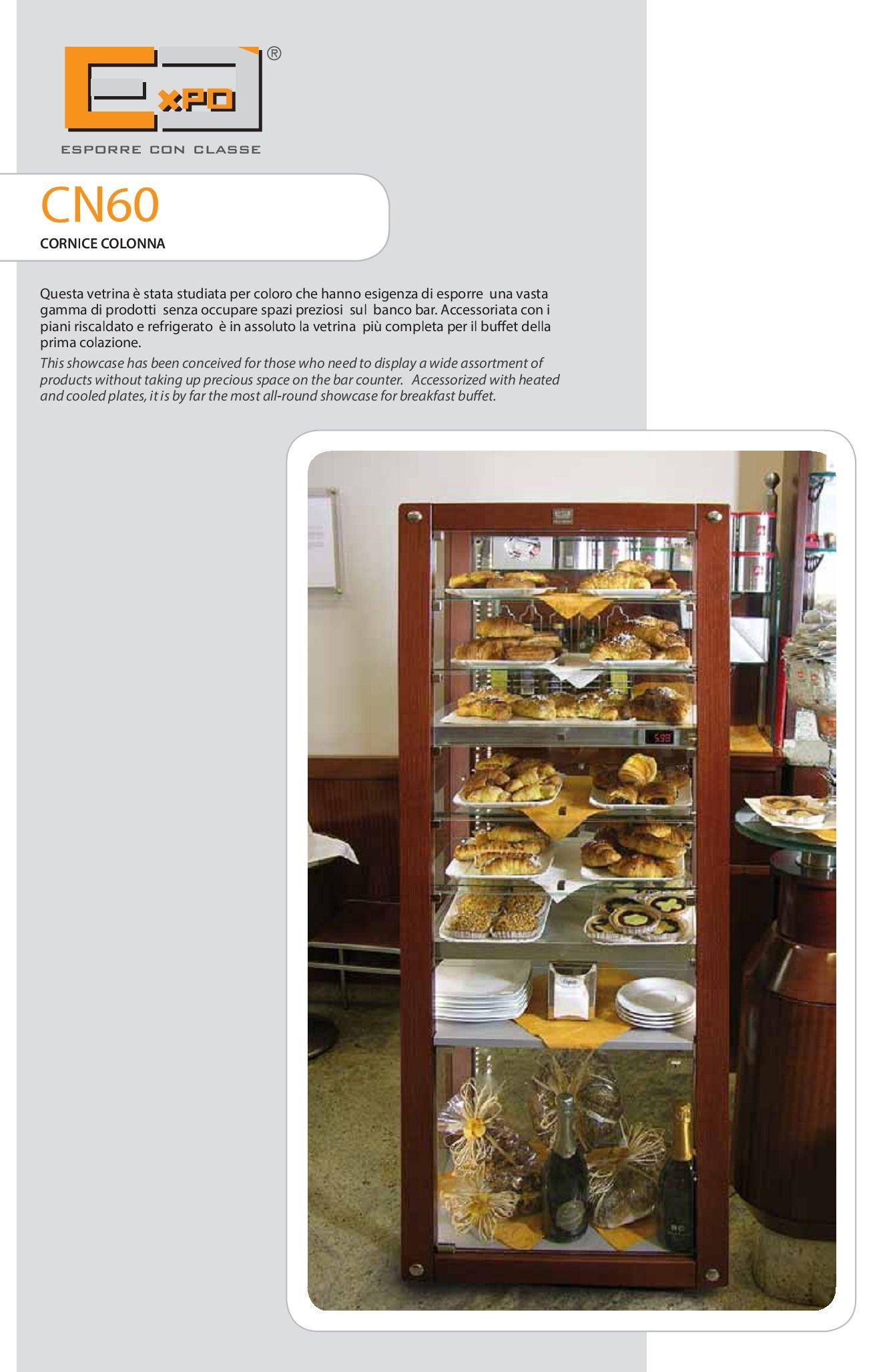 Vetrina a colonna serie cornice cn 60 attrezzature ed for M3 arredamenti catalogo