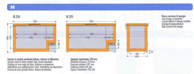 Congelatore a pozzetto se 325 attrezzature ed - Congelatore piccole dimensioni ...