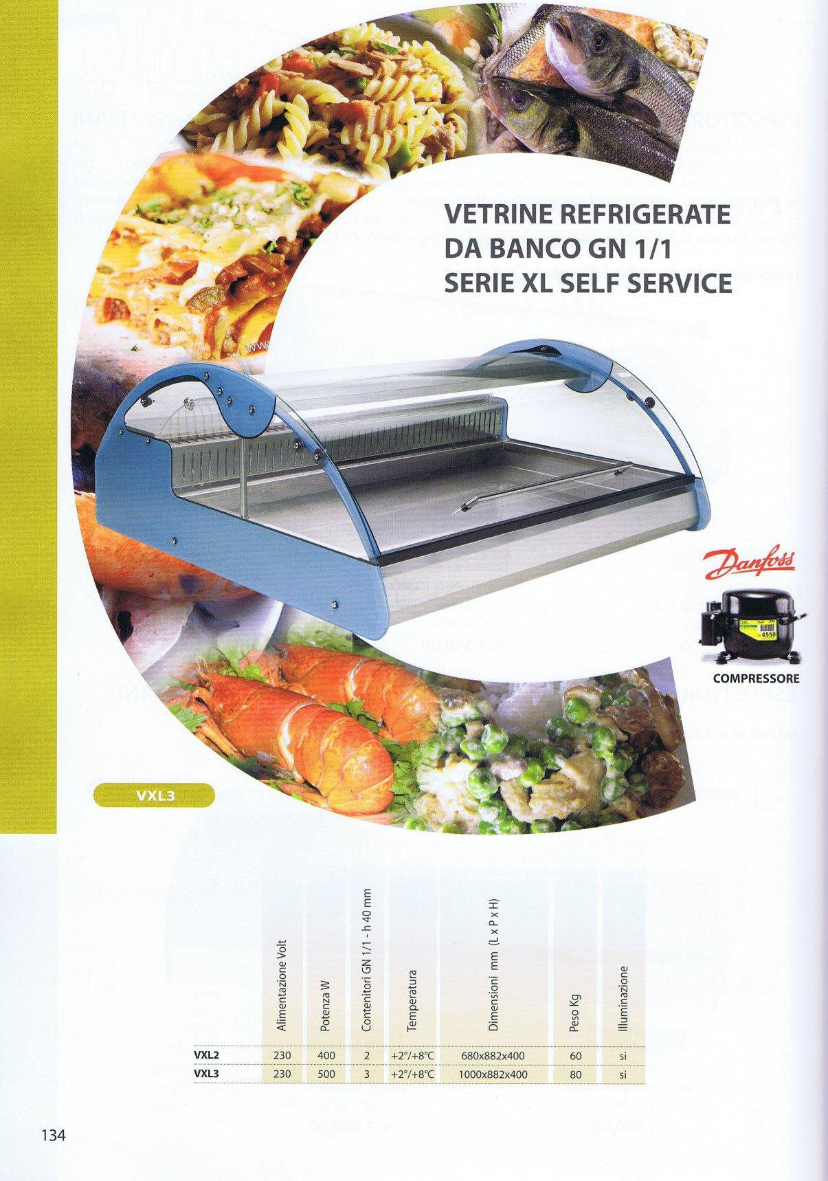 Vetrina refrigerata da banco per pesce vxl2 for Vetrine in cristallo arredamento