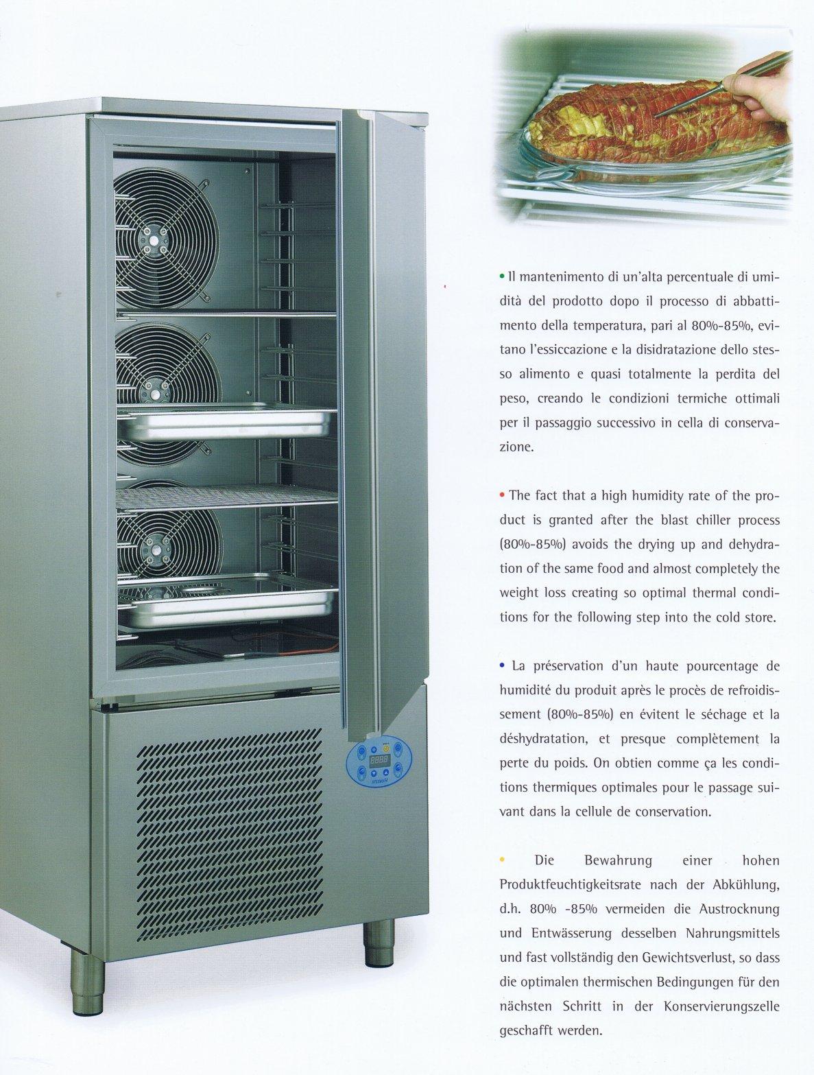 Abbattitore di temperatura alexander 5t 5 gn 1 1 for Abbattitore usato