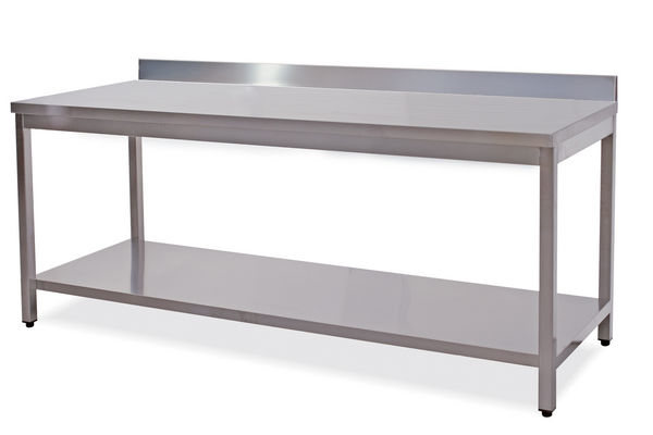 Tavoli inox con e senza alzatina cm.50-200x60. - Attrezzature ed Arredamenti per Alberghi
