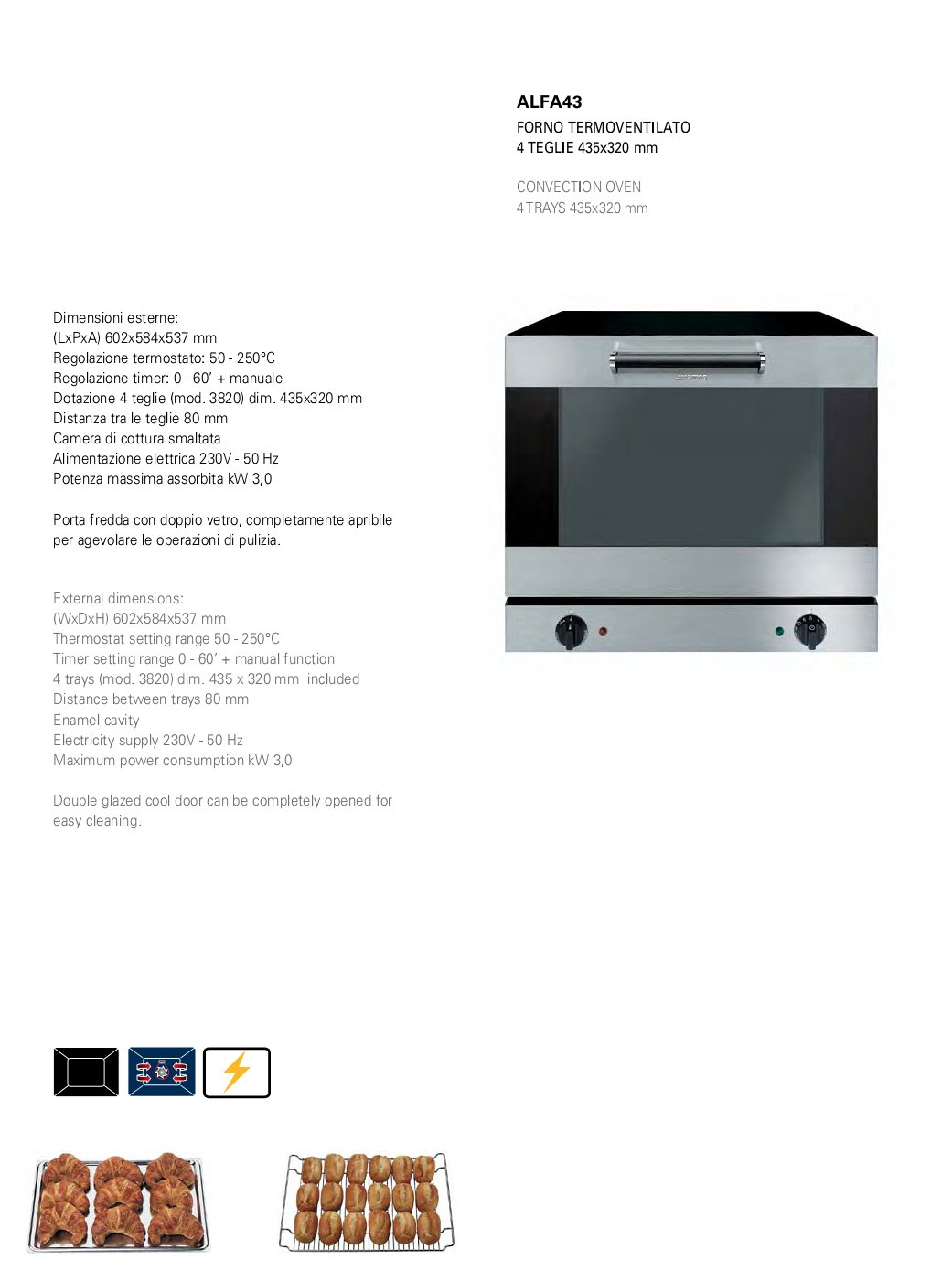 Forno termoventilato Smeg Alfa 43X - Attrezzature ed Arredamenti per ...