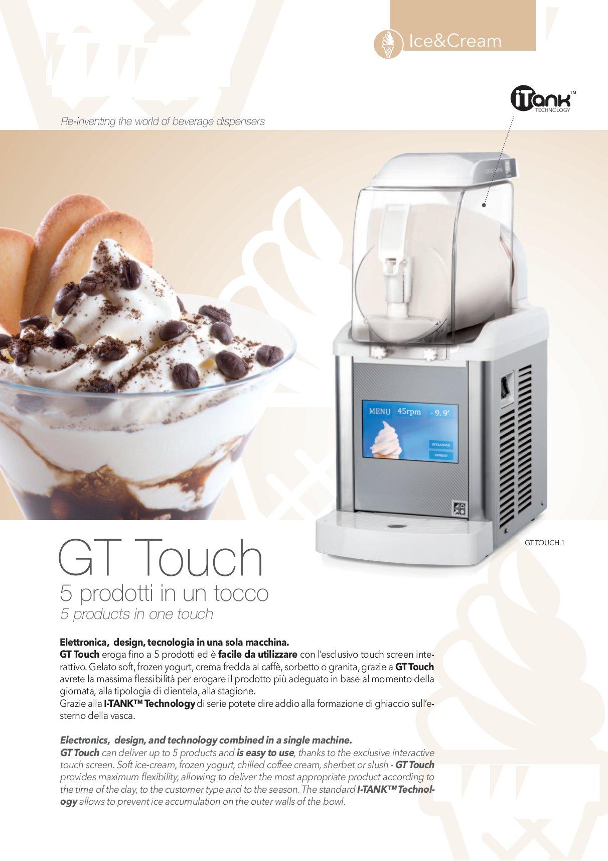 Ricetta Yogurt Per Macchina Soft.Gt Touch 1 Per Gelato Soft Granite Sorbetti Frozen Yogurt Attrezzature Ed Arredamenti Per Alberghi