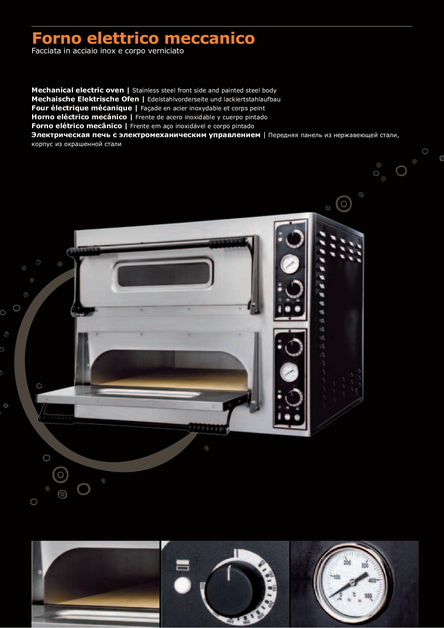 Forno elettrico per pizza e pane trays 6 6l for Arredamento pizzeria al taglio usato