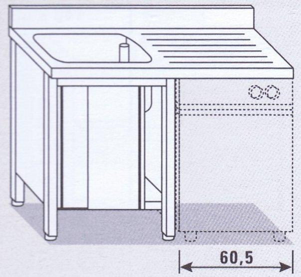 Lavello una vasca su armadio per lavastoviglie - Attrezzature ed ...