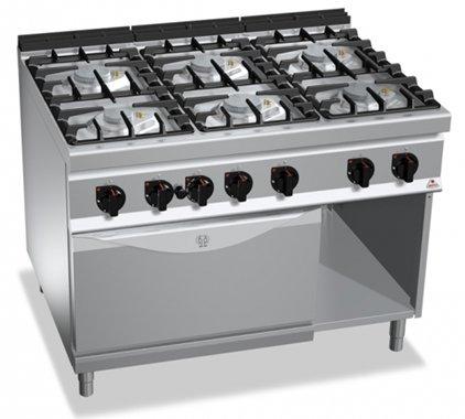 Cucina 6 fuochi berto 39 s high power con forno gas for Berto arredamenti