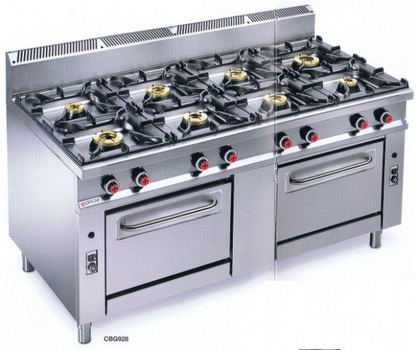 Cucina a gas 8 fuochi con 2 forni Offcar serie 990 9CBG28 ...